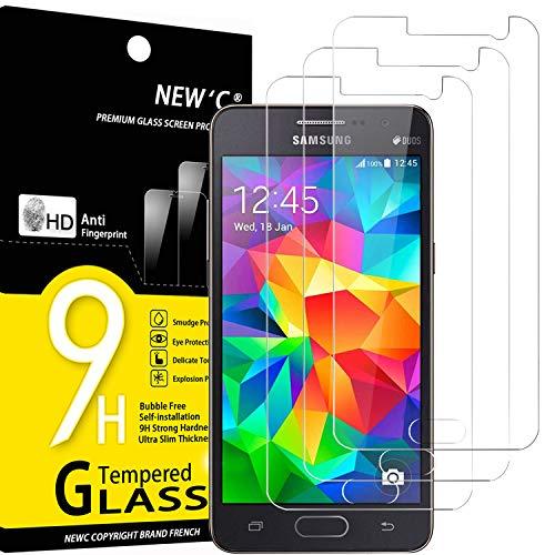 NEW'C Lot de 3, Verre Trempé pour Samsung Galaxy Grand Prime G530, Film Protection écran - Anti Rayures - sans Bulles d'air -Ultra Résistant (0,33mm HD Ultra Transparent) Dureté 9H Glass