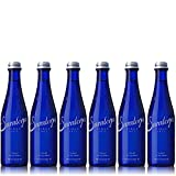 Saratoga Natural Spring Water, 12oz Cobalt Blue Glass Bottle (Pack of 6, Total of 72 Fl Oz)