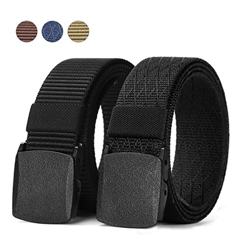 JASGOOD Nylon Canvas Military Tactical Men Outdoor Sports Breathable Waist Belt With Plastic Buckle