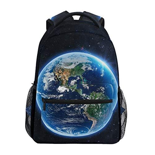 Mr.Lucien Space Nasa Rucksack für Jungen für Mädchen Planet Erde Weltraum Wissenschaft Rucksack Schule Büchertasche Tasche Mehrzweck-Wandern Tagesrucksäcke Reiserucksack Sporttasche 2020985