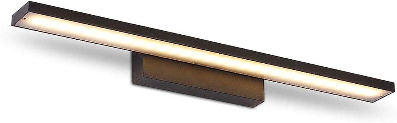 LED Spiegellampe IP44 Wasserdicht Spiegelleuchte Badezimmer Modern Wandleuchte Schminklicht Edelstahl Schminktisch Spiegelschrank Leuchte Warmwei Licht 3000K,schwarz40cm8W
