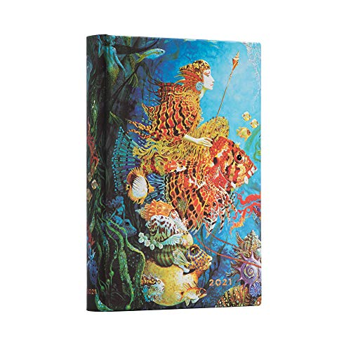 Paperblanks 12-Monatskalender 2021 Meereskönigin | Tagesüberblick | Midi (130 × 180 mm), DD6701-6