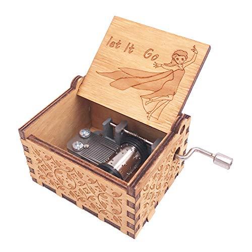 Youtang Frozen - Caja de música (18 Notas, manivela de Mano, Madera Tallada), diseño de...