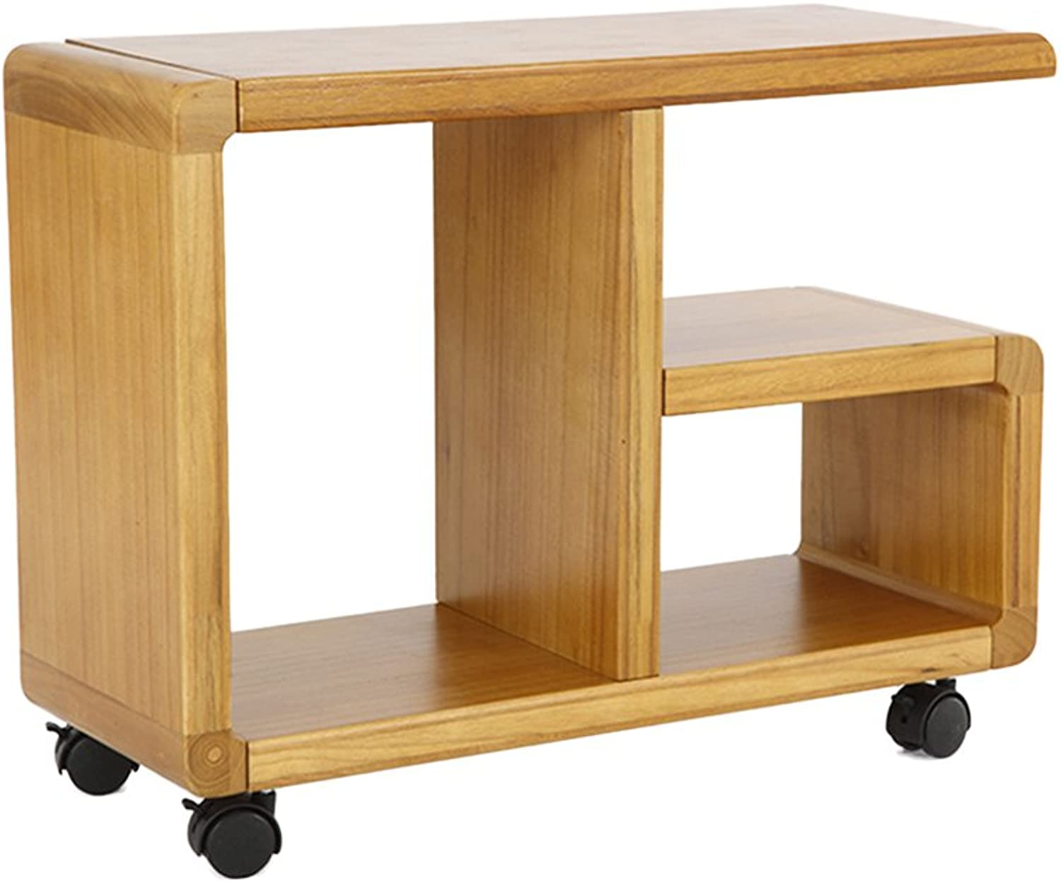 Moving Bedside Table, Wooden Sofa Table, Side Bookshelf, Small Coffee Table, 60  23  45.5 cm (color   B)