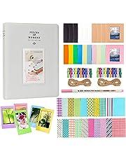 Anter Photo Album Accesorios para Fujifilm Instax Mini Camera, HP Sprocket, Polaroid Zip, Snap, Snap Touch Impresora Films con Film Stickers, Album & Frame (128 Pocket, Smoky White)