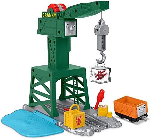 Thomas and Friends TrackMaster Cranky the Crane playset for preschool kids ages 3 years and older