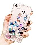 iPhone 7 / 8 ケース キラキラ 創意 流れる ios icon APP アイコン 図面 多彩な 液体 流動の砂……
