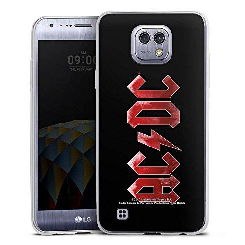 DeinDesign LG X Cam Slim Case Silikon Hülle Schutzhülle ACDC Logo Offizielles Lizenzprodukt