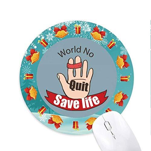 Logo Krawatte Der Index und die mittleren Finger retten Leben Mousepad Rund Gummi Maus Pad Weihnachtsgeschenk