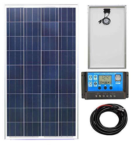 Lowenergie 100w Poly-Crystalline Solar Panel Battery...