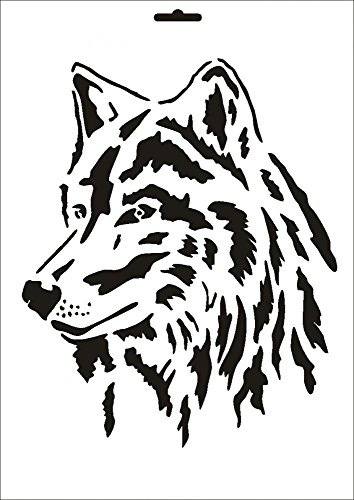 UMR-Design W-090 Wolf Wand/Textilschablone Grösse A4