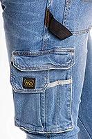 RICA LEWIS - Jeans da lavoro elasticizzati comfort fit MOD. JOB WORKER STONE (TG. 46) #2