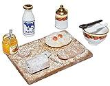 Unbekannt Miniatur Kekse Backen Backblech - Maßstab 1:12 Porzellan / Kermik - Reutter - Puppenhaus...