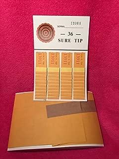 Opmnla 1 Dozen 36 Sure Tip Board Fund Raising Raffle Bingo Pull Tab Jar Raffle Tickets VTG Key (36 Tips)