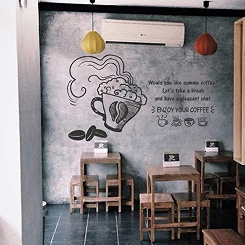 Olivialulu Handmålad kaffe liten fräsch speciell kaffe te butik västerlig restaurang butik fönster glas dörr dekorativa vägg hem klistermärken 102 x 58 cm