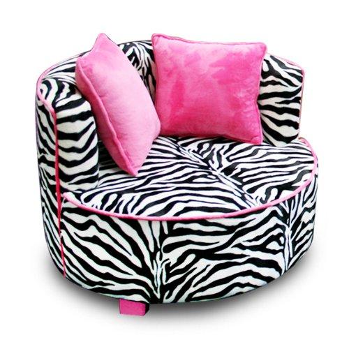 Big Sale Newco Kids Redondo Chair, Minky Zebra