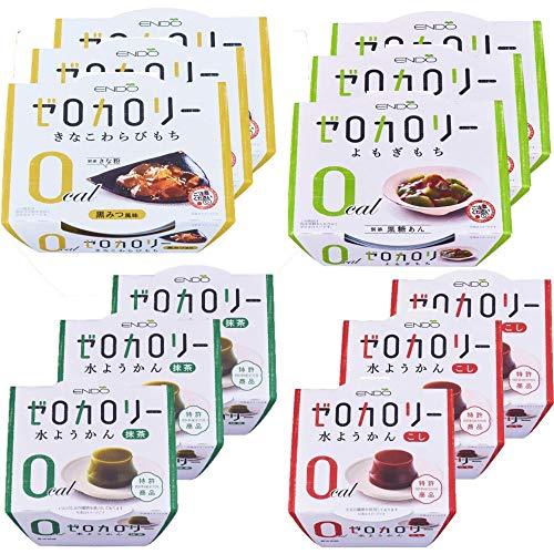遠藤製餡 ゼロカロリー スイーツ アソート 4種12食セット 和菓子