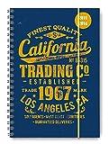 Collegetimer California 2015/2016 - Schülerkalender A5 - Weekly - Ringbindung / Ringbuch - 224 Seiten