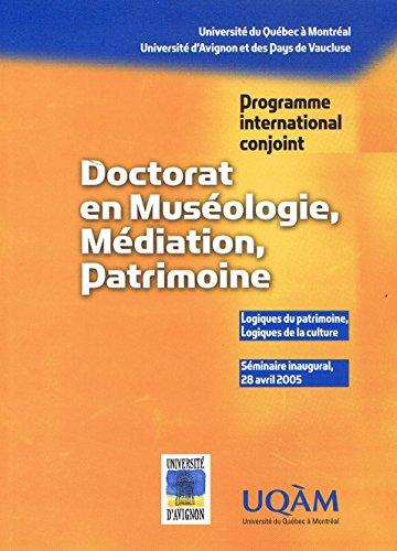 Doctorat en museologie mediation patrimoine
