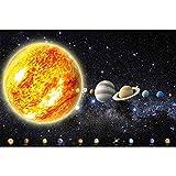 GREAT ART Fototapete – Sonnensystem Planeten – Wandbild Dekoration Galaxie Cosmos Space Universum All Sky Sterne Galaxy Weltraum Earth Foto-Tapete Wandtapete Fotoposter Wanddeko (210x140...
