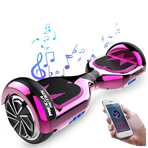 Mega Motion Hoverboard E1 Self Balanced Electric Scooter -built in Bluetooth Speaker LED