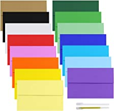 Supla 90 Pack 15 Colors A9 Invitation Envelopes Self Seal Greeting Card Envelopes Photos Envelopes White Ivory Red Green Kraft Yellow Pink Blue Envelops Square Flap Announcements Envelopes