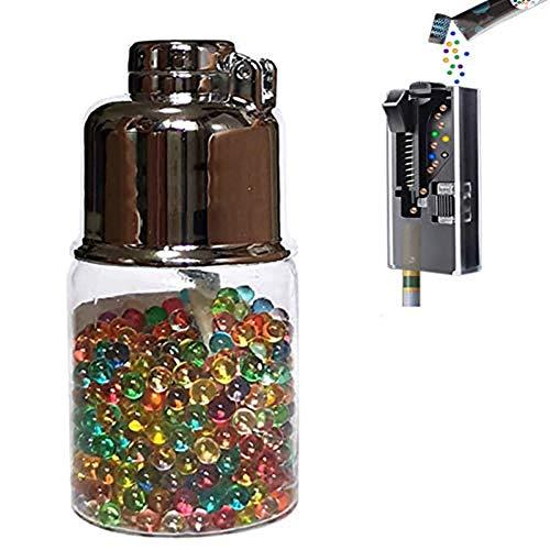 500 Stück Menthol Mint Zigarettenfilter, Aromatische Kapseln DIY Explosion Perlen Kugel Kapsel Zigarette Klicken Sie auf Filter Aromakarte Autofill Box