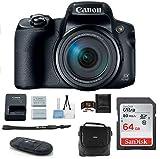 Canon PowerShot SX70 HS Digital Camera Bundle, Includes: 64GB SDXC Class 10 Memory Card + Spare Battery + Camera Bag + More.