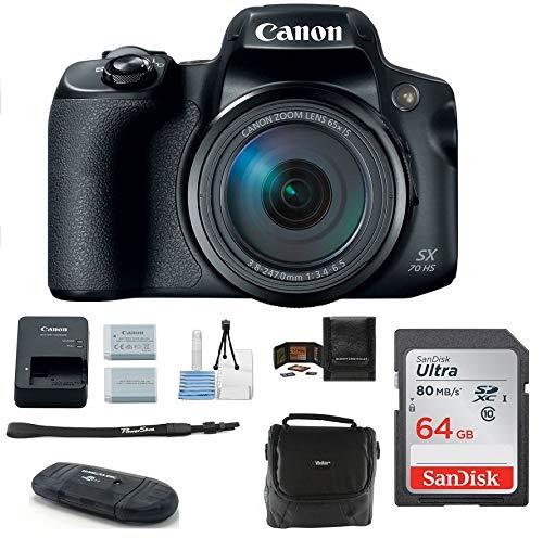 Canon PowerShot SX70 HS Digital Camera Bundle,...