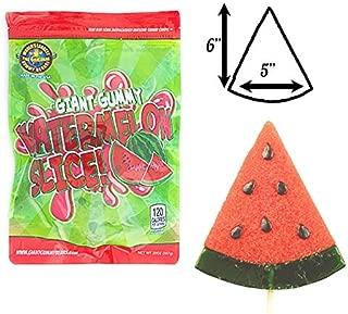 giant gummy watermelon on a stick