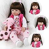 ZIYIUI Bambole Reborn 19 Pollici 47 CM Realistico Vinile Silicone Morbido Simulazione Bambino Bambole Reborn Femmina Babies Reborn Baby Doll Regalo di Compleanno Giocattoli