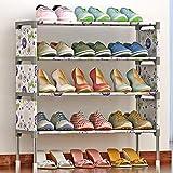 Yxxc Scarpiera, scarpiera, scarpiera, scarpiera a 4 Ripiani, Organizer per scarpiera autoportante, per Soggiorno, Ingresso, corridoio e Guardaroba, per 12 Paia di Scarpe (Co