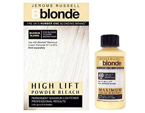 Duo Jerome Russell Bblonde Poudre décolorante et peroxyde crème 40 V 12 %