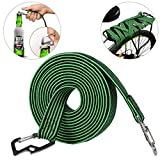 Cuerda elástica para equipaje ASEOK, cuerda elástica elástica universal, resistente y elástica para bicicleta con gancho de acero al carbono, apto para bicicletas, coches eléctricos (2 m), color verde