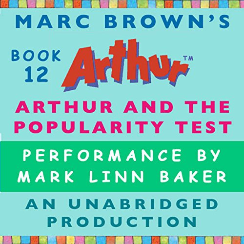 Arthur and the Popularity Test audiobook cover art