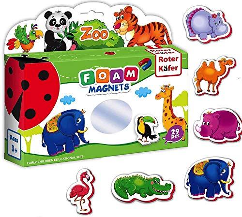 Roter Käfer Magneti frigo bambini Animali ZOO per Bambini 29 pezzi- Animali magnetici- Calamite frigo bambini- Fattoria animali bambini- Giochi magnetici- Animali Bambini- Animali giocattolo