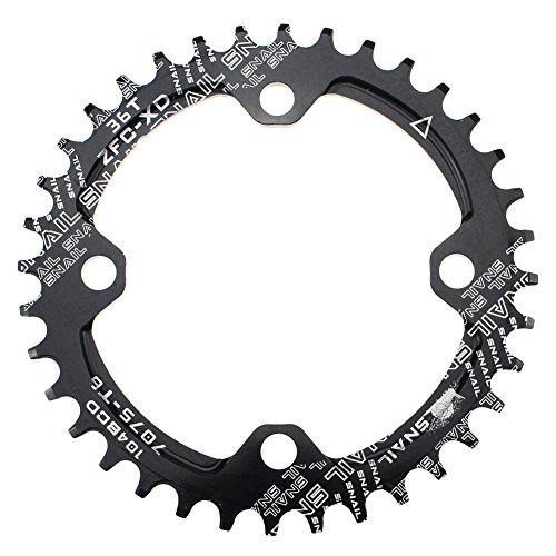 CYSKY 36T Schmale Breite Kettenblatt 104 BCD Einzelkettenblatt mit 9 10 11 Geschwindigkeit für Rennrad Mountainbike BMX MTB (36T)