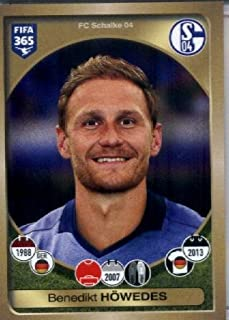 2016-17 Panini FIFA 365 #325 Benedikt Höwedes FC Schalke 04 Soccer Sticker