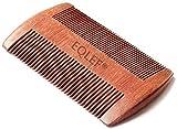 EQLEF® Beard Holzkamm, Taschenkamm, nicht statisch Rotes Sandelholz handgefertigten Kamm, Schnurrbartkamm Holz
