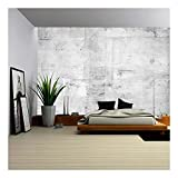 wall26 - Large Concrete Wall Background - Removable Wall Mural | Self-Adhesive Large Wallpaper - 100x144 inches