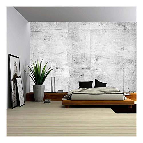 wall26 - Large Concrete Wall Background - Removable Wall Mural   Self-Adhesive Large Wallpaper - 100x144 inches