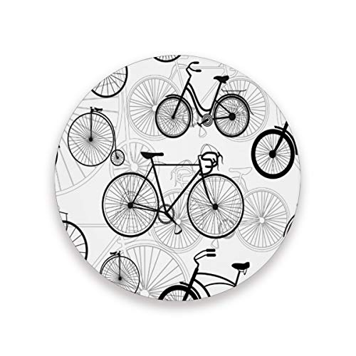 Nander Drink Coasters Absorbent Stone Bar Coaster Set of 4, Bicycle Bike Print Coasters for Drinks Coffee Mugs Cups Beer Wine Bottle Cocktail Desk