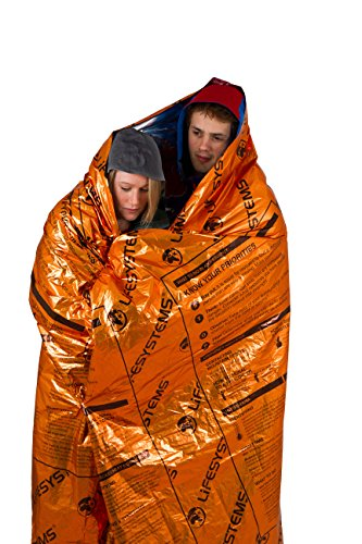 Lifesystems Heatshield Blanket-Double Thermal Mixte, Orange, Taille Unique