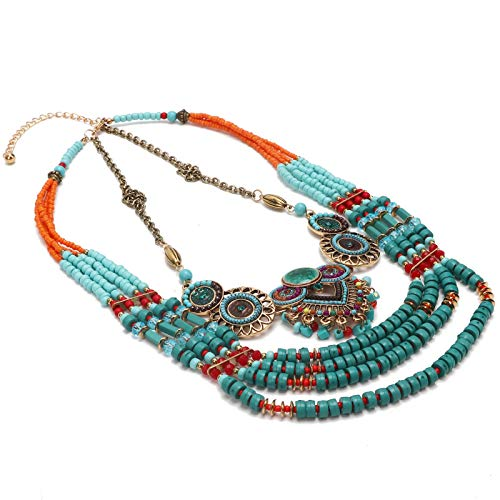 Layered Choker Necklace, Choker Necklace, Multi‑Layer Color Clothing Accessories for Women