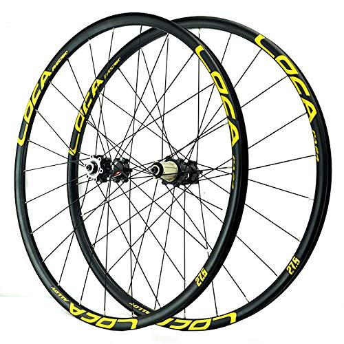 Mountain Bike Wheelset 26/27.5/29 Inch Disc Brake 24 Spoke 8-12speed Cassette Flywheel QR Sealed Bearing Hubs 1850g (Color : B, Size : 27.5in)