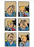 MENGJIAREN Póster Decorativo De Lona Comics Adventures of Tintin Carteles Vintage Nursery Kids Bedroom Pinturas Decorativas 50 * 70 Cm Sin Marco, Resistente A La Humedad Y Duradero