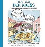 Der Krebs: Witziges Cartoon Sternzeichen-Geschenkbuch im Format 11,5 x 11,5 cm - Korsch Verlag