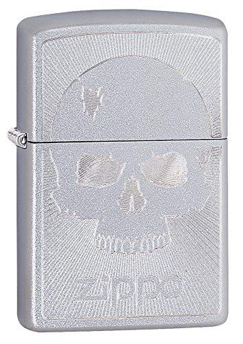 Zippo Feuerzeug Totenkopf, Unisex, Totenkopf Chrom, Regular