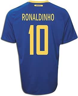 NIKE Ronaldinho #10 Brazil Away Soccer Jersey Youth.