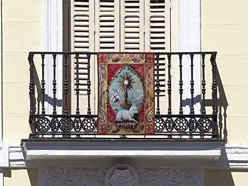 Oedim Balconera Corpus Christi, balconera Fabricada en Tela, decoración para Balcones, Hermandad Sacramental de Dos Hermanas